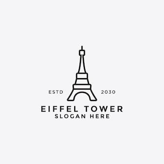 シンプルなパリとフランスの建物のデザインテンプレート