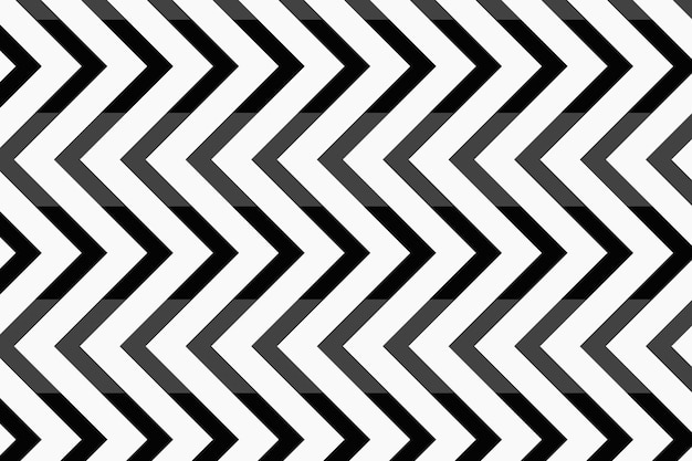 Simple pattern background, black zigzag abstract design vector