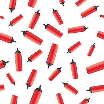 赤いマーカーのシンプルなパターン