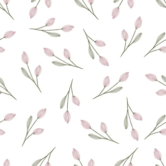 Simple pattern of pink buds