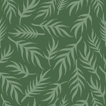 Simple pattern vector illustration leaves ornament
