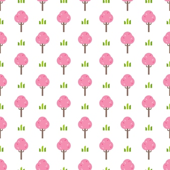 간단한 핑크 트리 패턴
