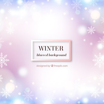 Simple pink winter background with  bokeh effect