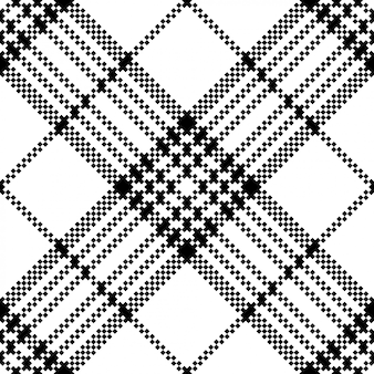 Simple pixel check black white seamless pattern