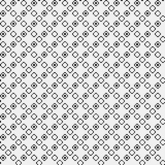 Simple pixelated pattern with monochrome geometric shapes. useful for textile and interior design. strict neutral style.