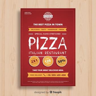 Simple pizza brochure template