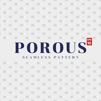 Simple porous seamless pattern on white backgreound