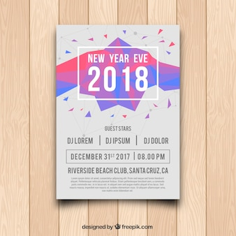 Simple poster for new year's eve party