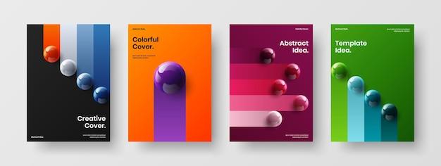 Простой плакат векторный дизайн шаблона композиции