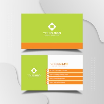 Simple professional business card design template