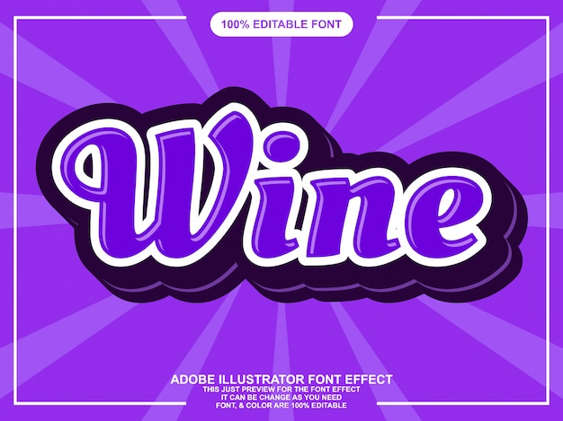 Simple purple script sticker font effect