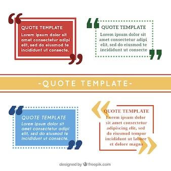 Простые шаблоны цитаты