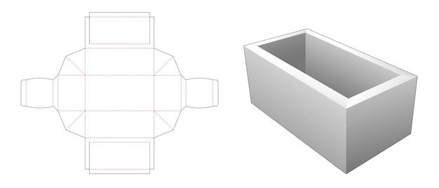 간단한 직사각형 트레이 다이 컷 템플릿