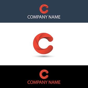 シンプルな赤い文字cロゴ