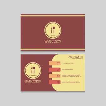 Simple restaurant card