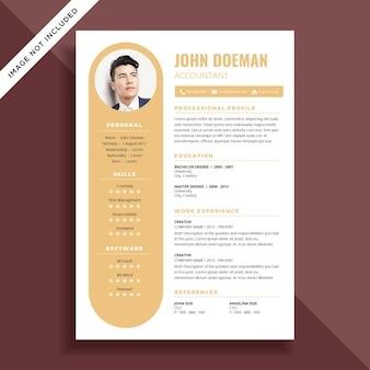 Simple resume cv template design
