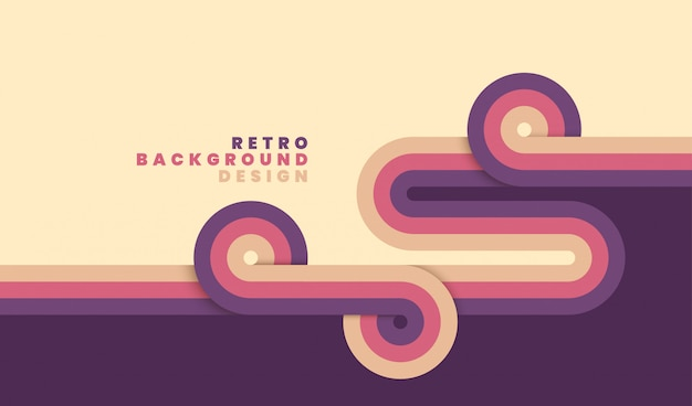 Simple retro background design wit stripes.