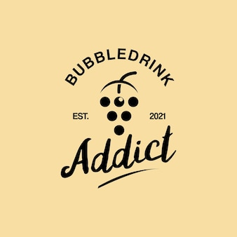 Simple retro bubble drink logo design