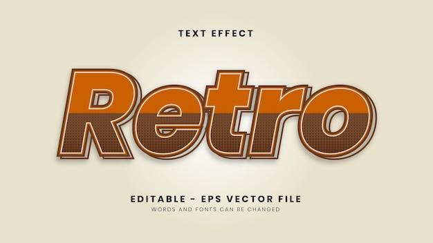 Simple retro font effect Premium Vector