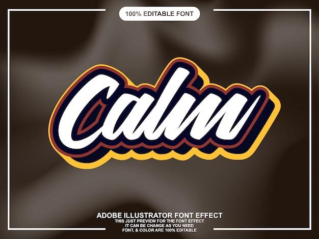 Simple retro script sticker font effect
