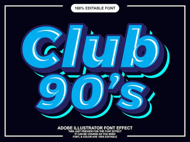 Simple retro sticker font effect