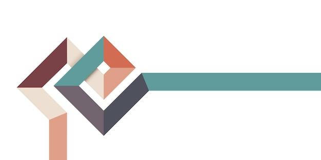 라인이있는 간단한 복고풍 스타일 배너, 제목에 대한 세련된 최소한의 템플릿 디자인.