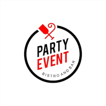 Simple round emblem party and event badge vector