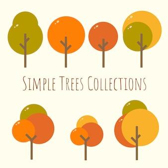Simple rounded autumn season tree asset