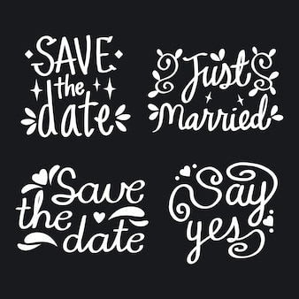 Simple save the date lettering