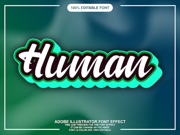 Simple script sticker font effect