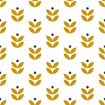 Simple seamless geometric Folk Art pattern.