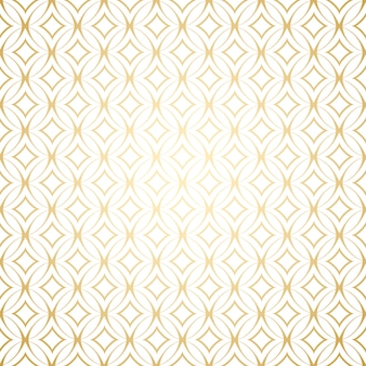 Simple seamless pattern with round shapes,linear gold art deco  white and gold colors