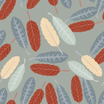 Simple seamless random pattern with leaves.