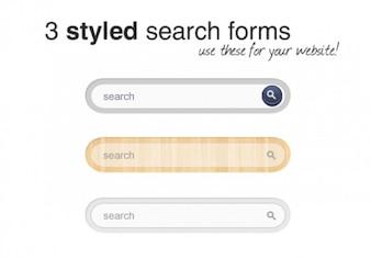 シンプルな検索フォームのベクトル要素