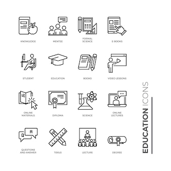 Simple set of education icon, related vector line icons