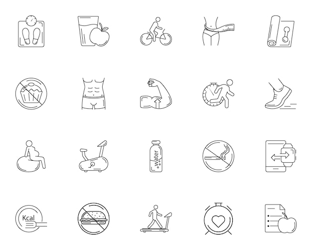 Simple set of gym icons