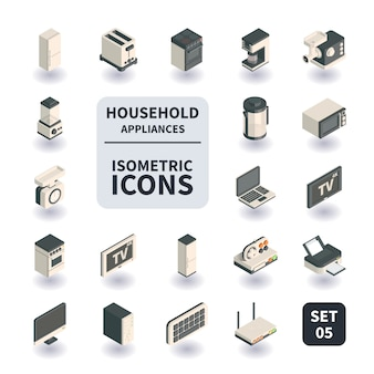 Simple set of household appliances icons.