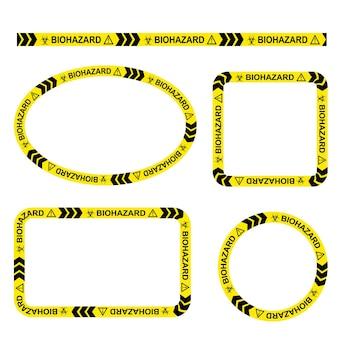 Простой набор векторных овал, прямоугольник, круг, квадратная полицейская линия, рамка для вашего элемента дизайна