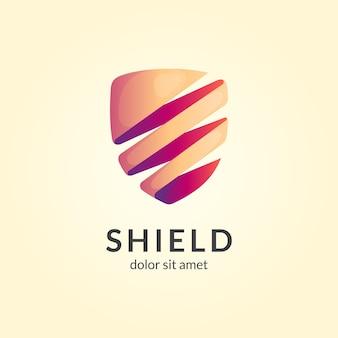 Шаблон логотипа простой щит