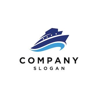 Simple ship logo design template