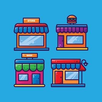 シンプルなショップやマーケットデザイン