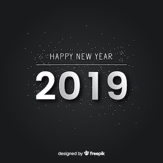 Simple silver new year background