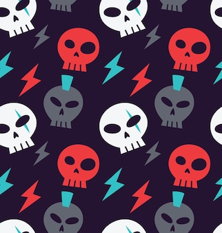 Simple skull icon background