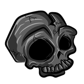 Simple skull for t shirt design