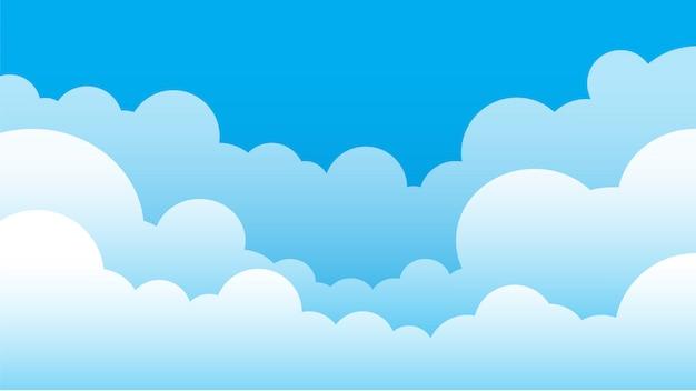 간단한 하늘과 구름 배경