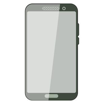 Простой смартфон с пустым экраном. реалистичный макет смартфона. пользовательский интерфейс устройства, ux-макет для шаблона презентации. рамка мобильного телефона с пустым дисплеем изолированных шаблонов. вектор