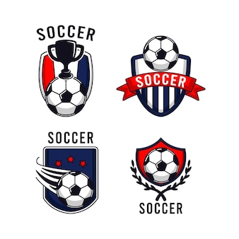 Simple soccer football logo design template