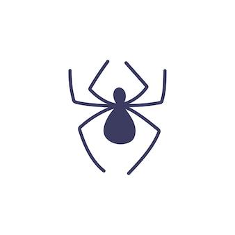 흰색 바탕에 간단한 거미입니다. 곤충, 마법의 속성, 요술. 손으로 그린된 벡터 고립 된 단일 그림입니다.