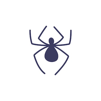 Simple spider on a white background. insects, attributes for magic, witchcraft. hand drawn vector isolated single illustration.