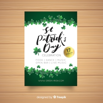 Simple st patrick's party poster